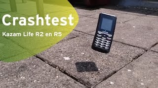 Kazam Life R2 en R5 crashtest (Dutch)