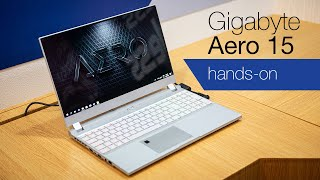 Gigabyte Aero 15 OLED hands-on: Is this for gamers or creators?