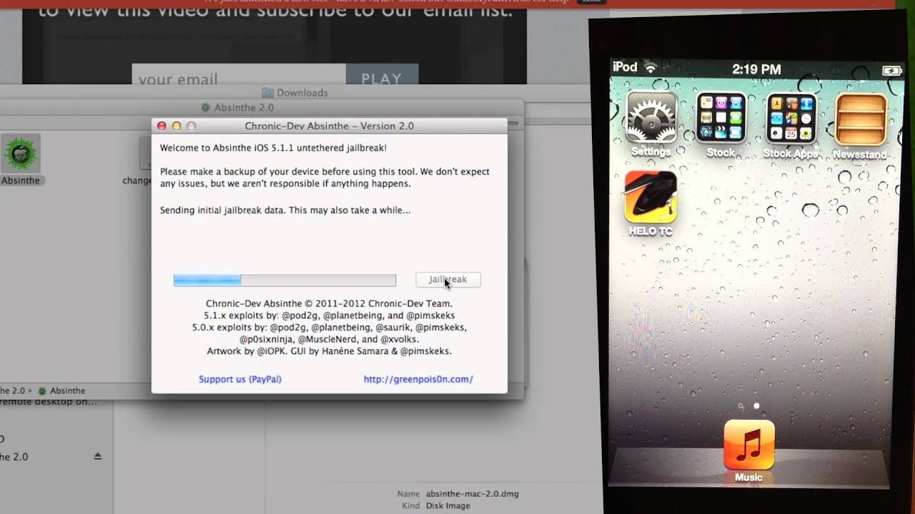 untethered jailbreak ios 5.1 iphone 4s absinthe