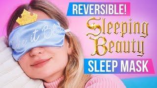 DIY Sleeping Beauty Sleep Mask - Make It Pink & Blue!