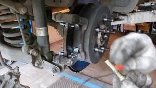 Kia Sportage замена задних колодок