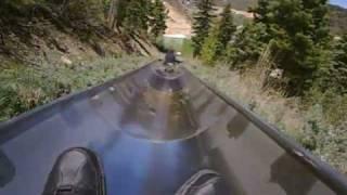 Utah Olympic Park  QuickSilver Alpine Slide.flv