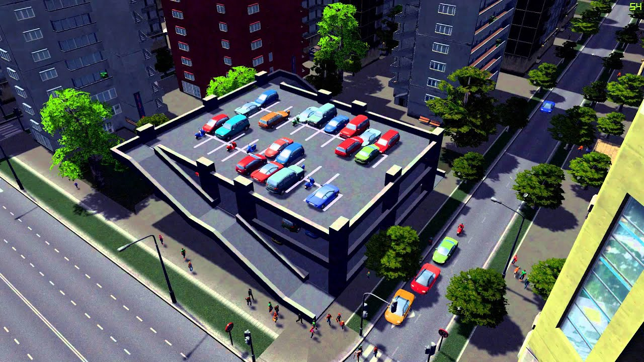 Parking lot addon for Cities: Skylines