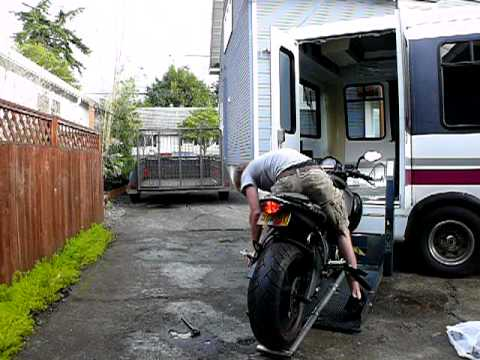 Loading My Buell 1125cr Into The Short Bus Youtube