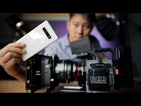 Samsung Galaxy S10+ Vs RED Movie Cinema Camera