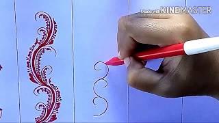 Belajar Melukis Henna (Basic Pola Memutar) #2