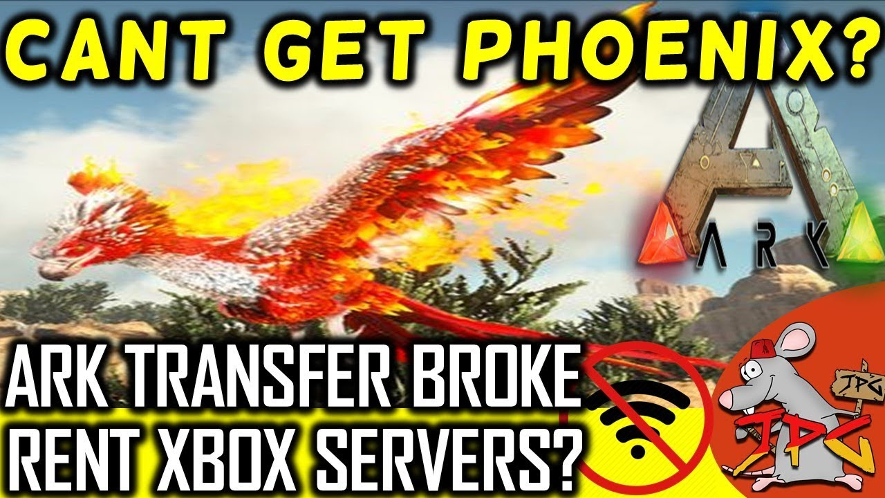 ARK NEWS: PHOENIX ONLY ON SCORCHED? CROSS CLUSTER BROKE! /XBOX RENTABLE  SERVERS WHERE ARE THEY?
