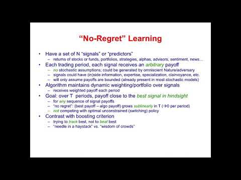 """Trading without Regret"" by Dr. Michael Kearns"