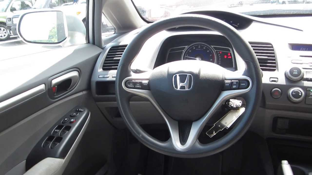 2010 honda civic gray stock 13173p interior youtube for Honda civic 9 interieur