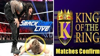 Roman reigns Attacks Daniel Bryan & Rowan ! King Of The Ring Matches Confirm RAW & SDLive