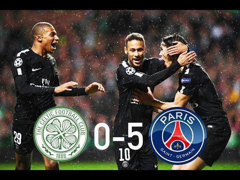 CELTIC vs PSG 0-5 - All Goals & Highlights HD - Champions League Ft Mbappe, Neymar and Cavani