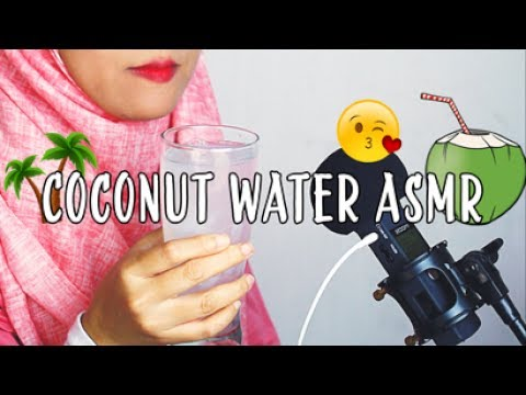 #2 Request ASMR Eating Sounds:  Fresh Coconut Water || ASMR Indonesia