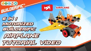 Builderific™ HOW TO - Motorized Airplane Tutorial Video | RED BOX TOY
