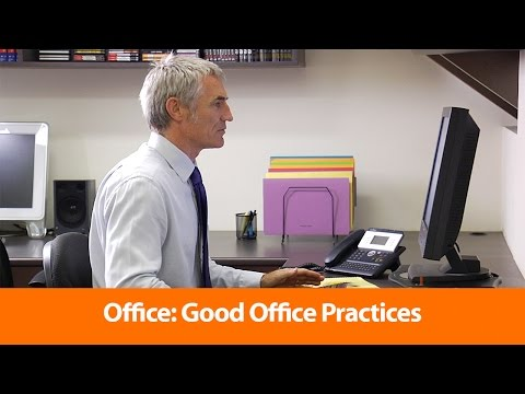Good Office Practices - Health and Safety Training Video