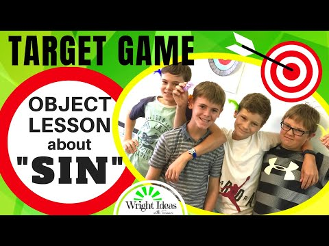 TARGET GAME: Object lesson & game about SIN: Creative Children's Ministry Ideas