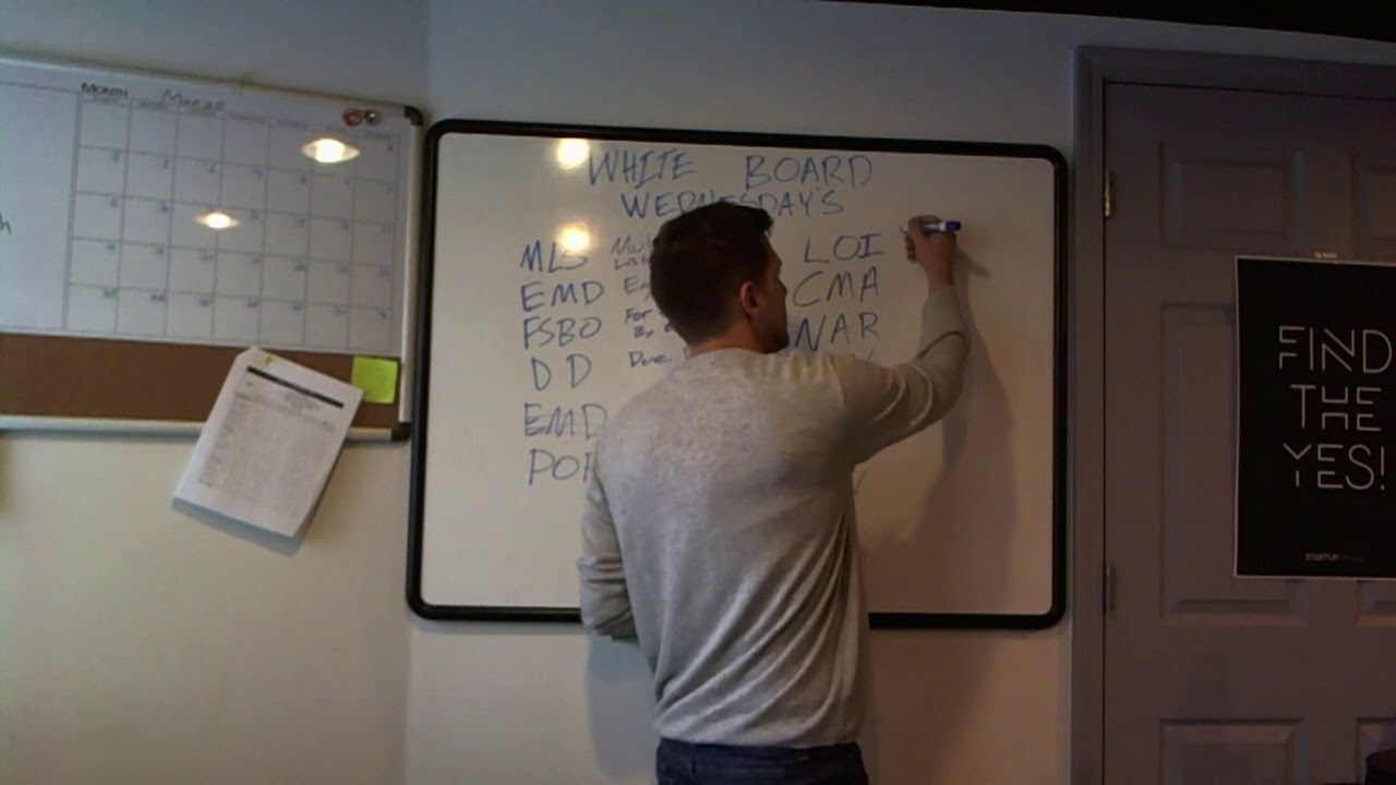Real Estate Acronyms | Whiteboard Wednesdays 01
