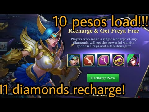 Diamonds recharge for only 10 pesos load - Codashop   Mobile Legends   Globe