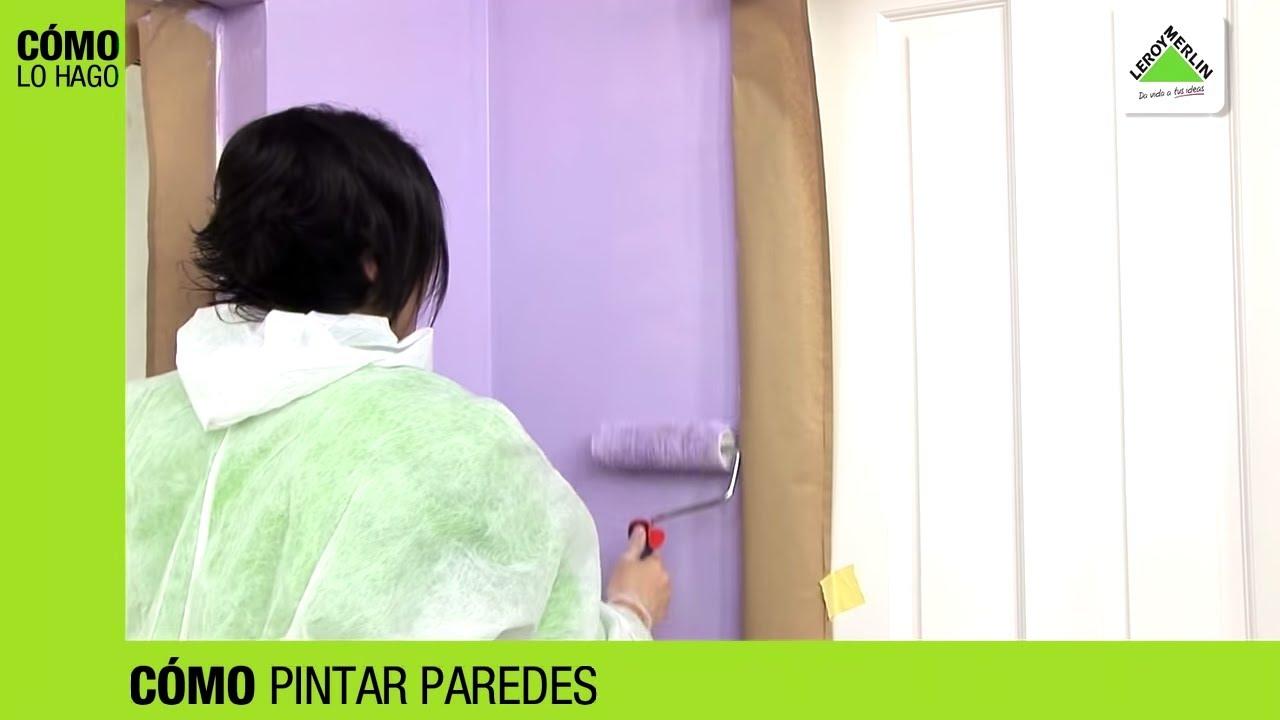 C mo pintar paredes leroy merlin doovi - Aprender a pintar paredes ...