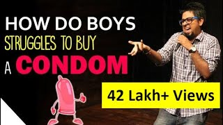 Experience of Buying  a Condom   | Stand Up Comedy by Abijit Ganguly | Comedy Munch
