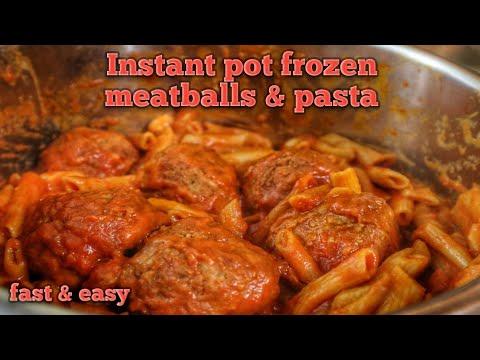 Instant Pot Pasta & Frozen Meatballs - Easy Dump Recipe - Yummy