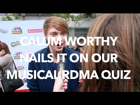 CALUM WORTHY NAILS OUR SINGING QUIZ & DEFENDS RYLAND LYNCH'S HONOR