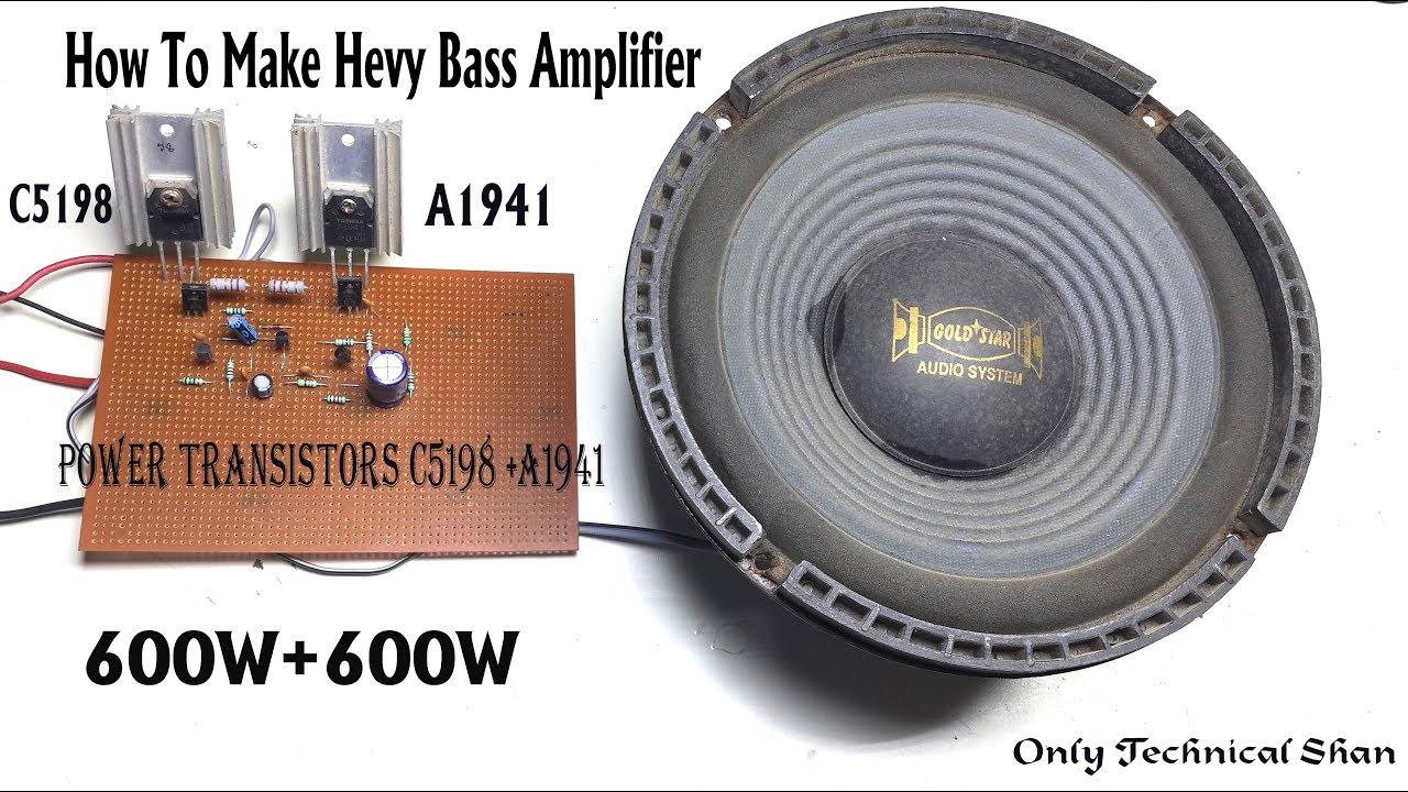 How To Make Amplifier Heavy Bass 600w+600w