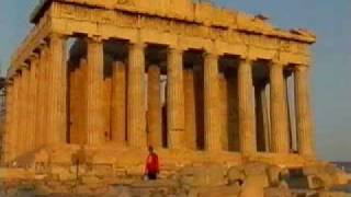 Pathenon at the Acropolis at dusk (Athens, Greece)