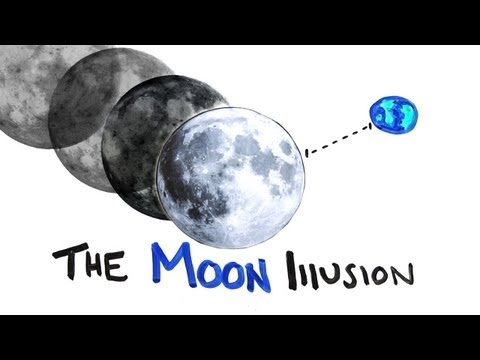 What is the moon illusion?