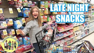 LATE NIGHT GROCERY SHOPPING at VONS for KIDS SCHOOL LUNCHES AND SNACKS | PHILLIPS FamBam Vlogs