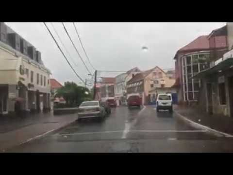 Flooding in Saint George's Grenada after Tropical storm Bret