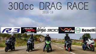 RC390 vs R3 vs N300 vs RR310 vs 302R | 300cc SPORTBIKE SHOOTOUT - 2018