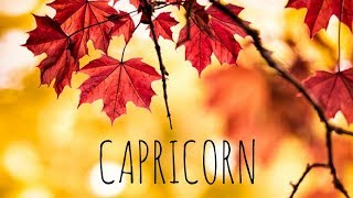 CAPRICORN NOVEMBER 2018 🦃🍁🍃 LOVE TAROT READING PAY ATTENTION TO THE SIGNS