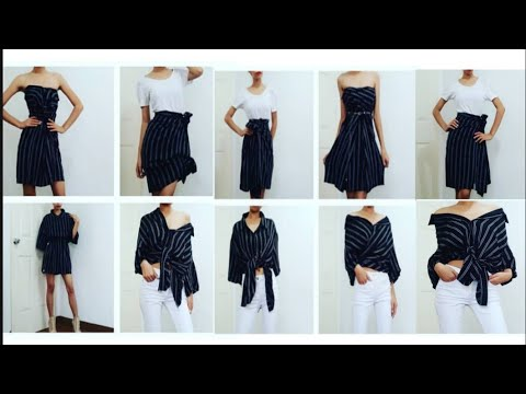DIY: 10 Way's to turn you mans shirt into DRESS, TOP and SKIRT