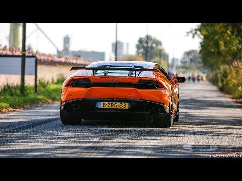 800HP Supercharged Lamborghini Huracan Novitec w/ Akrapovic Exhaust - LOUD Revs & Accelerations !