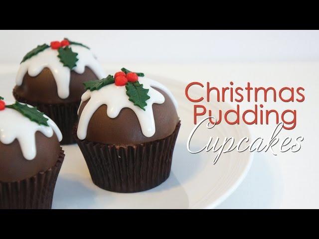 Christmas Pudding Cupcake Tutorial