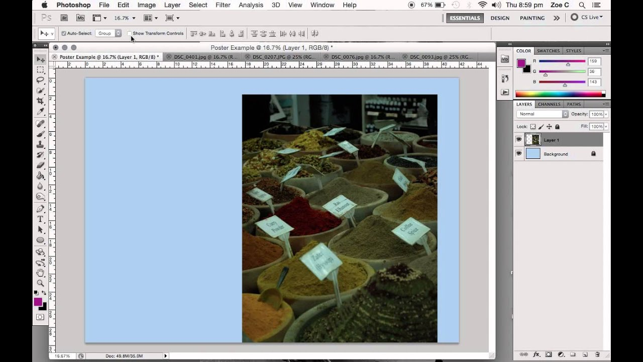 HOW TO: CREATE AN A3 POSTER IN ADOBE PHOTOSHOP
