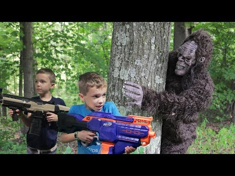 Nerf War:  Bigfoot In The Woods