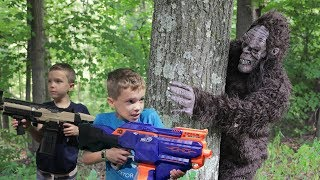 Nerf War:  Bigfoot in the Woods