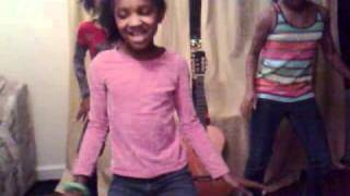 pretty girl swagers dancing to party in the usa