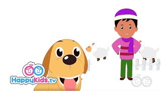 Domestic Animals - Learning Songs Collection For Kids And Children  | Rhyme time | Happy Kids