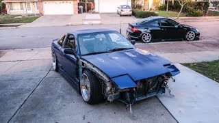 I CRASHED THE 240SX.. (SAD)