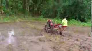 Hand Rotary Tractor performance in paddy field in Sri Lanka