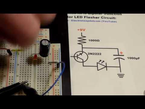 2 switch circuit diagram single 2n2222 npn bipolar junction transistor bjt led  single 2n2222 npn bipolar junction transistor bjt led
