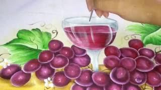 Transparência – Como pintar cálice com vinho – pintura em tecido