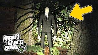ENCONTREI o SLENDER MAN na FLORESTA do GTA 5 !! (LENDAS / GTA V)