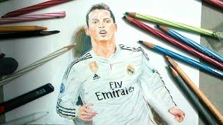 Drawing Christano Ronaldo - How to draw Ronaldo - Drawing Ronaldo - celebrityportrait#12