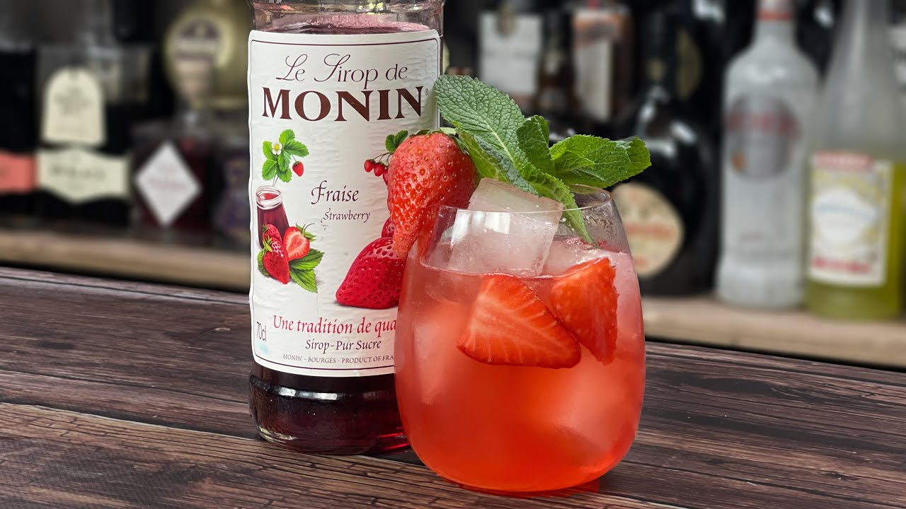 Monin Strawberry Syrup Cocktail - Honey & Strawberry Spritz