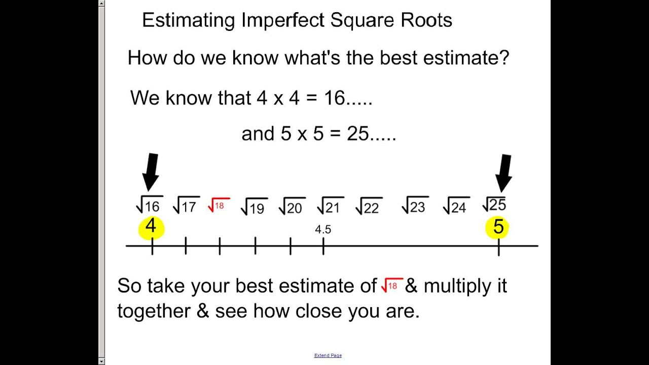 estimating imperfect square roots youtube. Black Bedroom Furniture Sets. Home Design Ideas