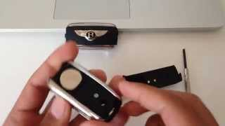 How To Replace the Battery in Your Car's Keyless Remote Bentley Continental GT Key