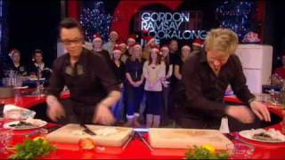 Gok Wan flirting with Gordon Ramsay on Cookalong Live.